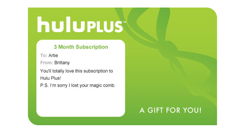 Hulu Plus Gift Card