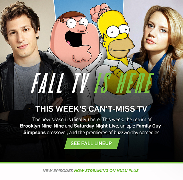 Fall TV is Here