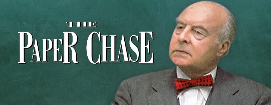 paper chasing The paper chase (1973) quotes showing all 18 items charles w kingsfield jr: mr hart, here is a dime take it, call your mother, and.